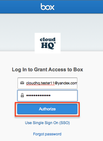 authorize cloudHQ