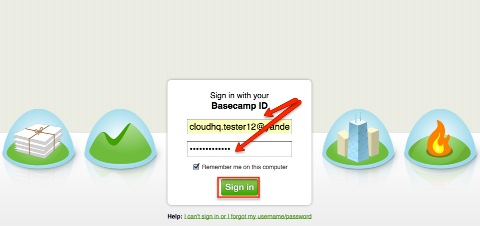 Authorize Basecamp