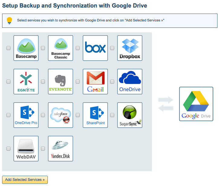Backup to Google Drive icon
