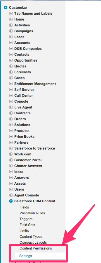 How to enable Salesforce CRM Content in Salesforce – cloudHQ