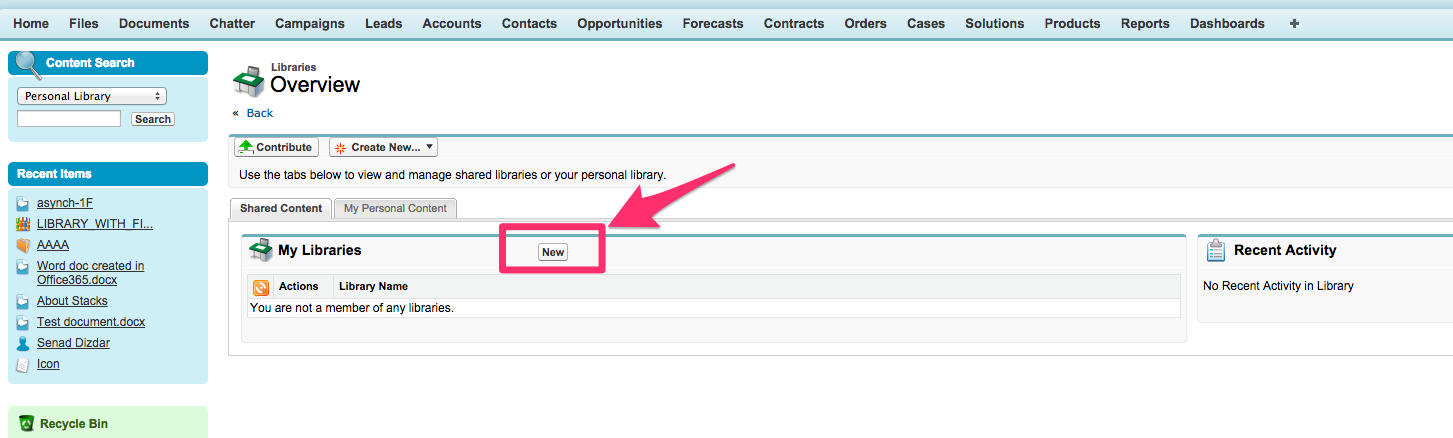 How to enable Salesforce CRM Content in Salesforce – cloudHQ Support