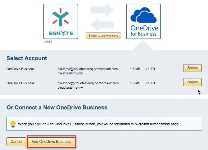 OneDrive Business account