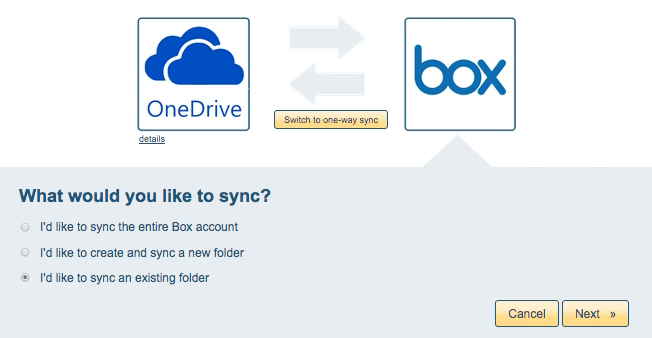 How to sync OneDrive and Box – cloudHQ Support