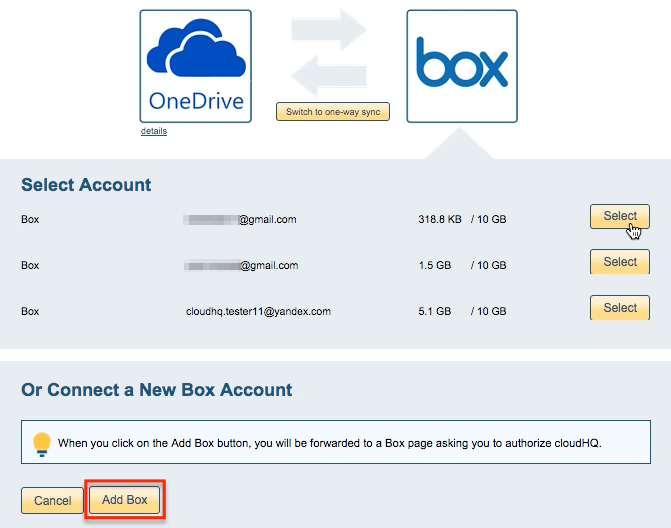 Box account