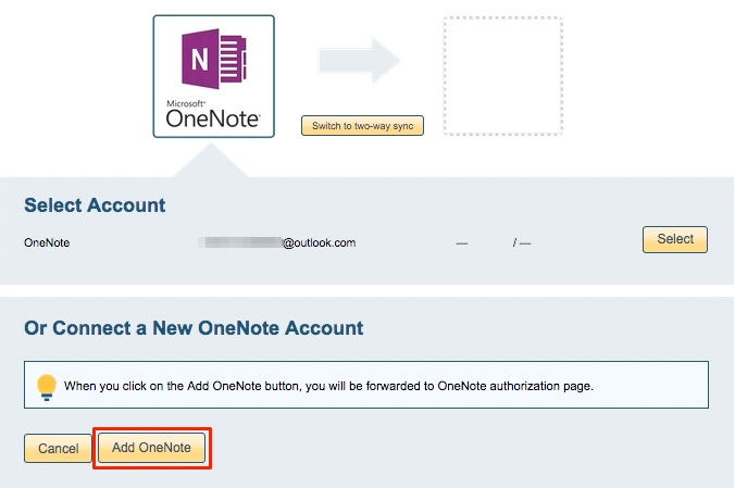 How to back up OneNote Notebook to Dropbox – cloudHQ Support