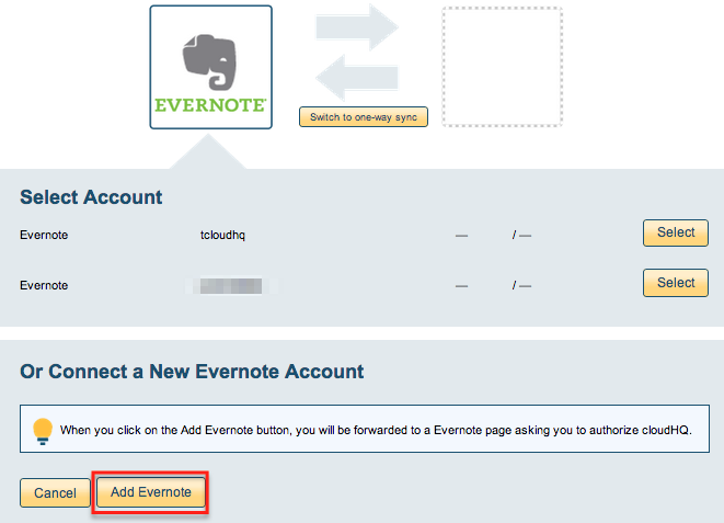 how to delete an evernote account