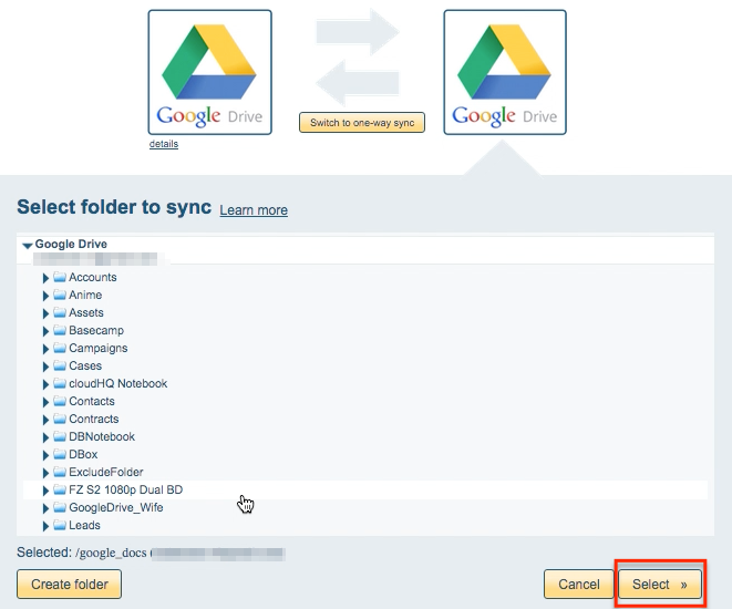 How to sync two Google Drive accounts – cloudHQ Support