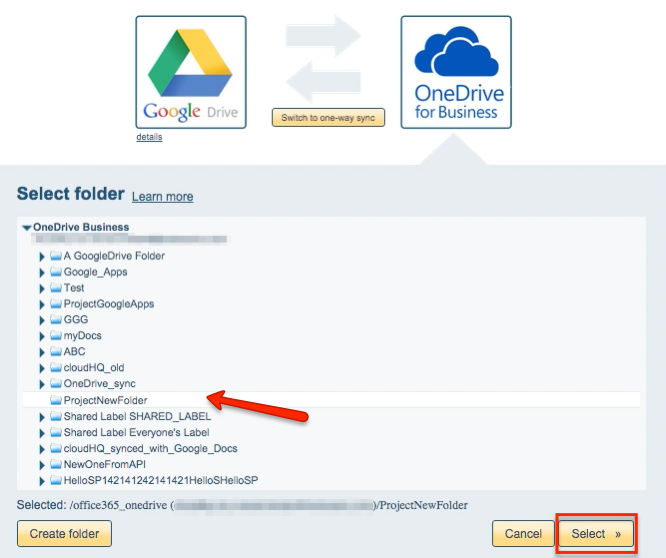 How to sync Google Drive and OneDrive for Business – cloudHQ Support
