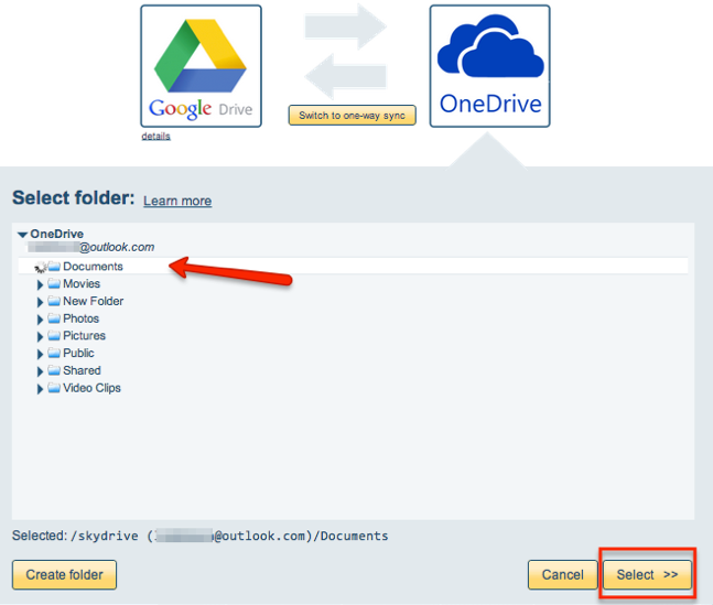 How to sync Google Drive and OneDrive – cloudHQ Support