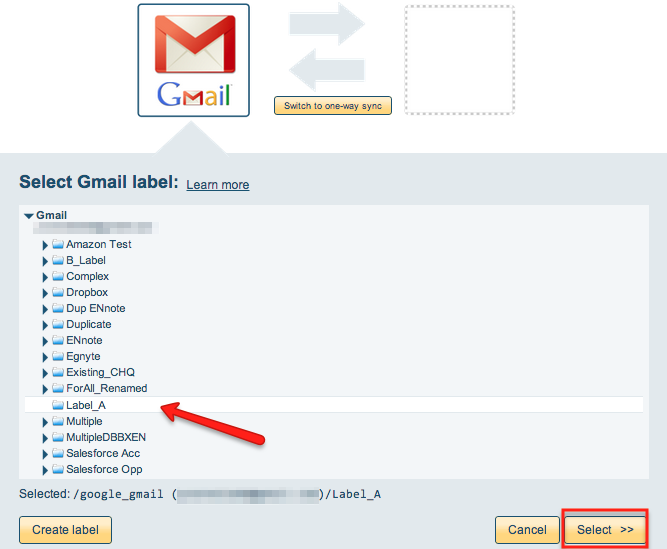 Gmail label