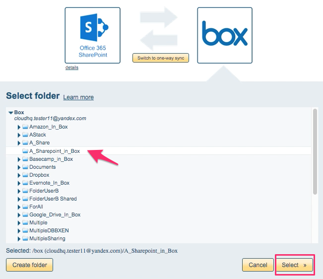 How to sync Office 365 SharePoint and Box – cloudHQ Support