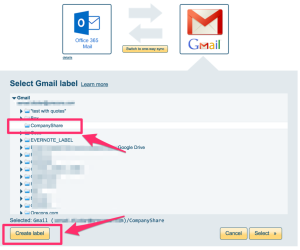 How to sync Office 365 Mail with Gmail – cloudHQ Support