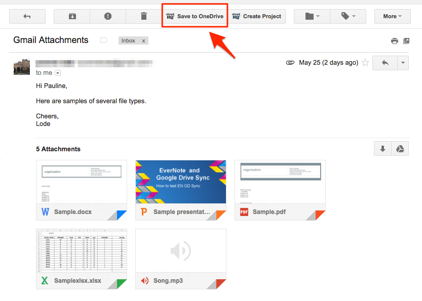 How to save a single email with attachments to OneDrive – cloudHQ