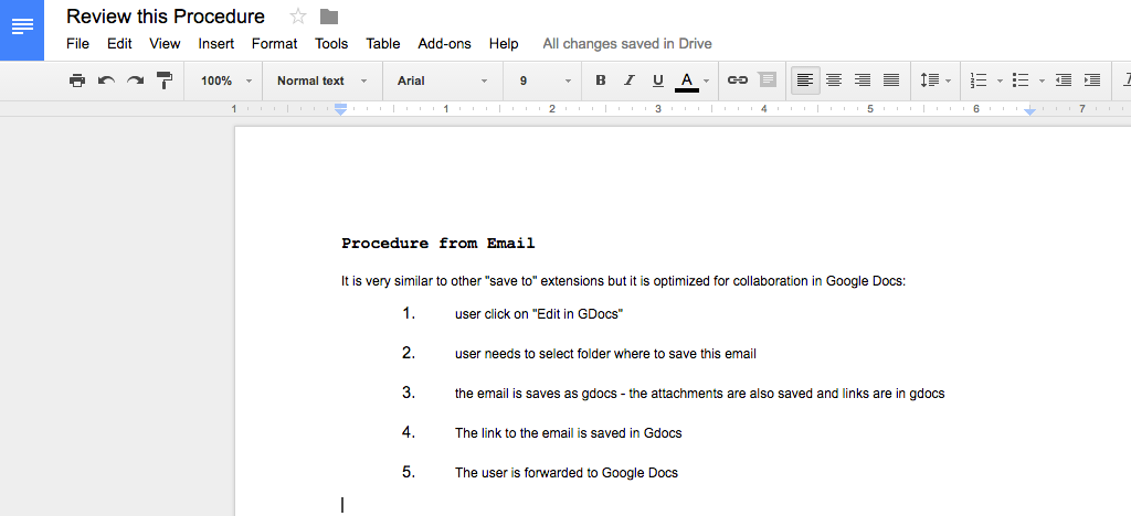how to add emails to google docs