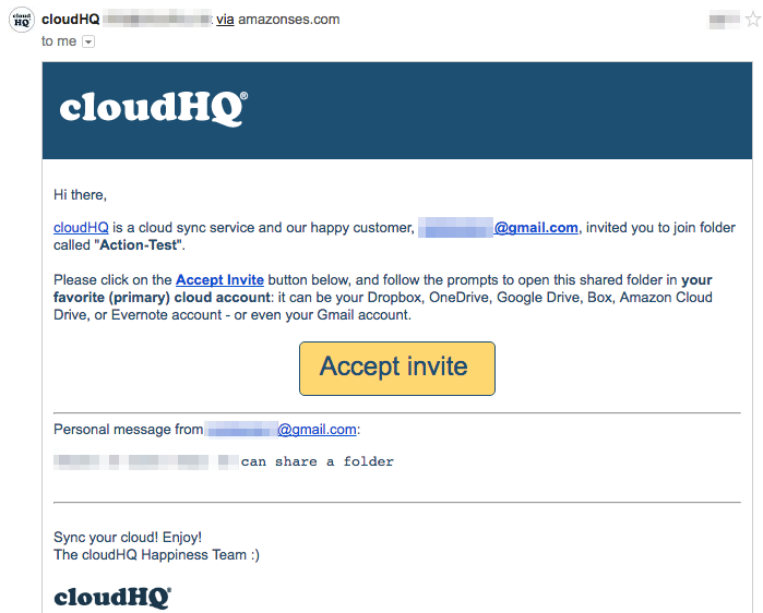 How to accept a share from an email invitation cloudHQ Support