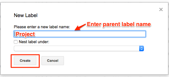 Create a label