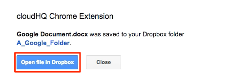 How to save Google Docs to Dropbox using our Chrome extension