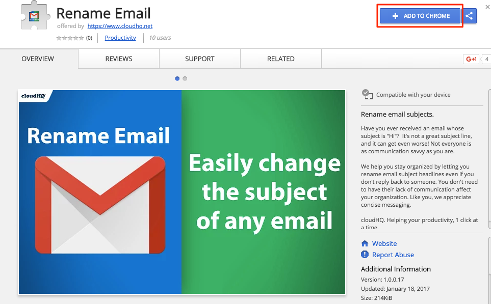 Getting started with Rename Email (How to rename an email