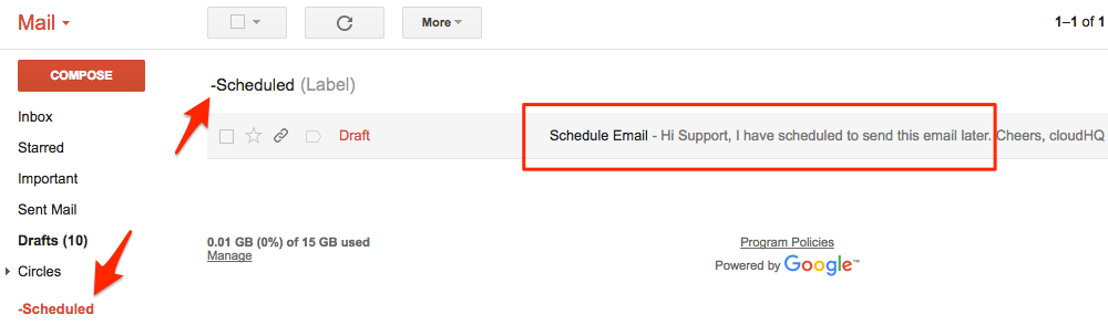 Email Schedule