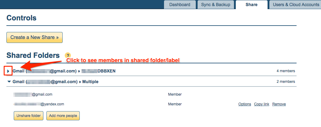 How to check who accepted invitation to shared folderlabel click the dropdown of the shared folder to check who has accepted or not stopboris Choice Image