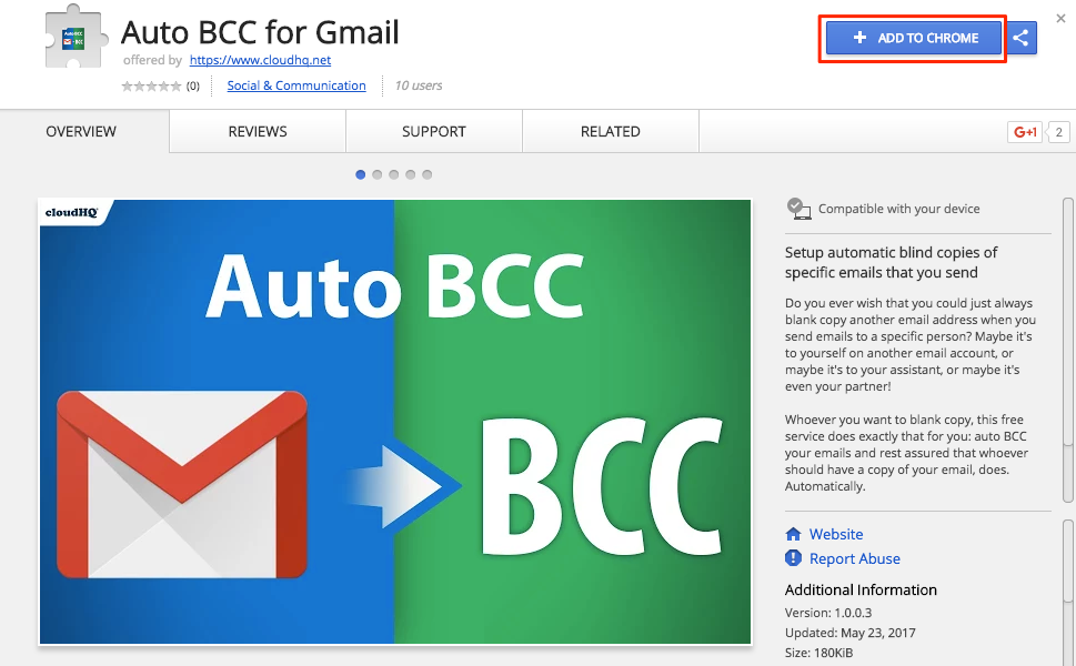 Getting started with Auto BCC for Gmail (How to set up automatic bcc