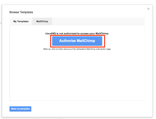 how to import mailchimp templates cloudhq support
