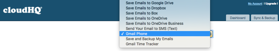 Subscription plans – Gmail Phone – cloudHQ Support