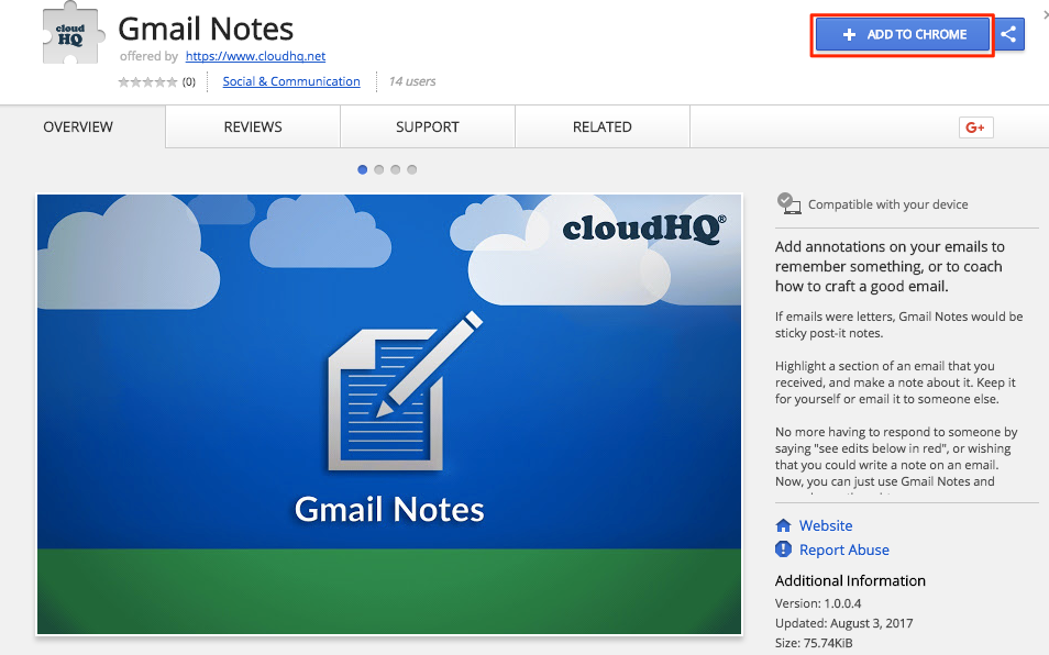 How to add sticky Notes to emails using Gmail™ Notes