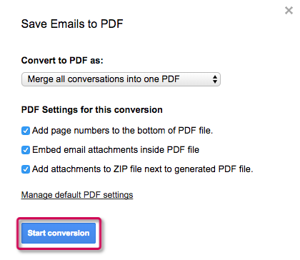 How to save multiple emails as PDF – cloudHQ Support