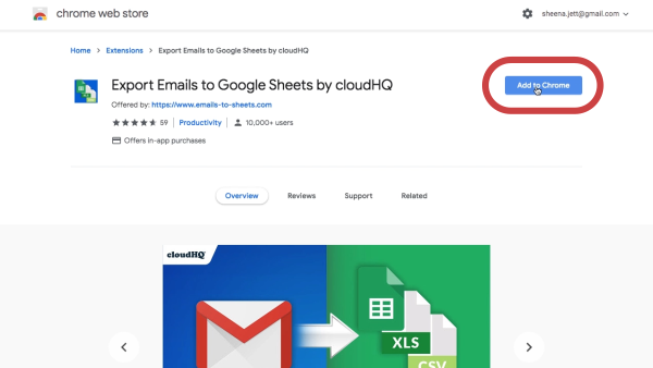 Get Export Emails to Sheets