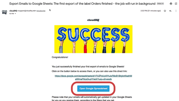 Success Email - Wizard 2